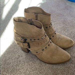 Strappy booties